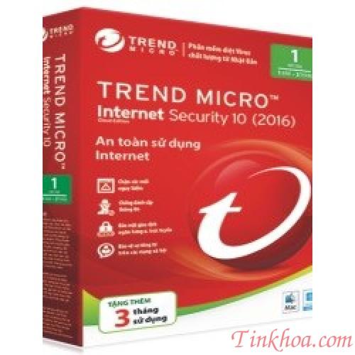 Phần mềm diệt virus Trend Micro Internet Security 2020