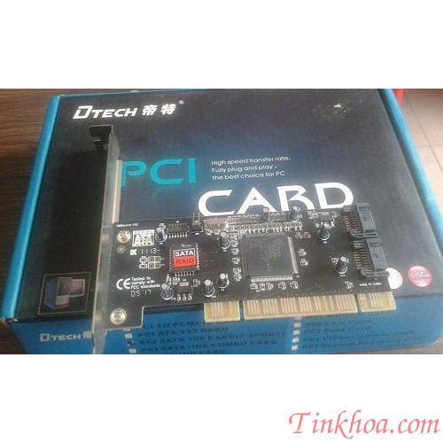 Card PCI TO  SATA DTECH 2 CỔNG